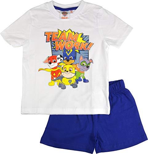 Paw Patrol – Jungen Pyjama Team Work, kurz, Gr. 98/104 Schlafanzug Kinder