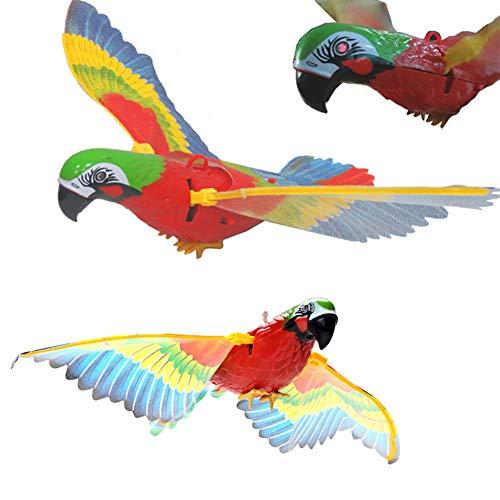 FeiyanfyQ Funny Kids Electric Wire Parrot Bird Toy con mensajero de simulación de música ligera