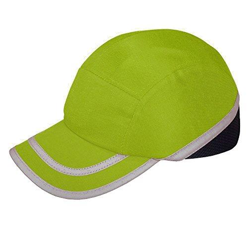 Viwanda - Gorra de Protección ABS con Alta Visibilidad Hi Vis Modelo Deportivo Amarilla para Trabajo ✅