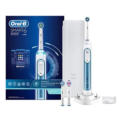 Oral-B Elektrische Zahnbürste Smart 6 6000N Rotierend/Oszilierend/Pulsieren Weiß, Blau