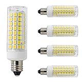 All-New-(102LEDs) E11 Led Bulbs, 80W or 100W Equivalent Halogen Replacement Lights, Dimmable, Mini Candelabra Base, 850 Lumens Daylight White 6000K, AC110V/ 120V/ 130V, 4 Pack (6000K)