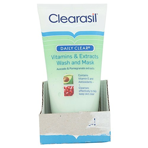 6 x Clearasil Daily Clear Vitamins & Extracts Wash and Mask 150ml