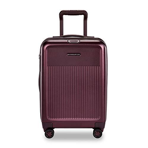 Briggs & Riley Sympatico Hardside International Spinner Luggage, Plum, 21-Inch Carry-On