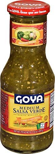 Goya Salsa Medium Verde Tangy Green Salsa 17.6 oz