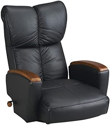 宮武製作所 肘付本革座椅子 風雅 YS-P1370HRBK ブラック 2533