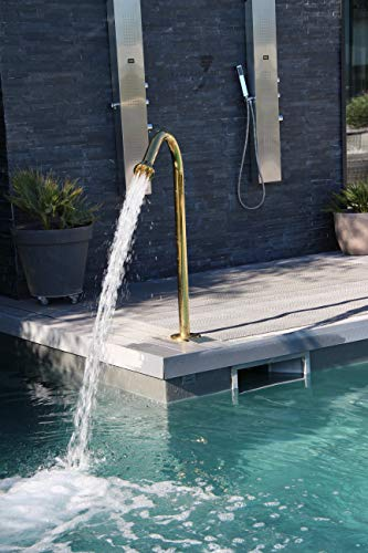 Cascáde - Fuente de acero inoxidable 316 para masaje, chorro de agua, punta de 17...