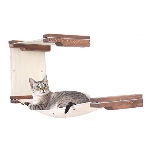 GJNVBDZSF Kratzbaum, an der Wand montierte mehrschichtige Hängematte Moderne Katzenmöbel Villa Game Activity Center Kletterturm Katzenwandzubehör