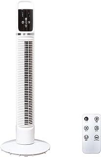 life_mart 扇風機 タワー ファン DCモーター マイナスイオン機能 搭載 (PSE認証済み) タワー型 ハイポジション 縦型扇風機 リモコン付き DTF-80 メーカー1年保証 (ホワイト)
