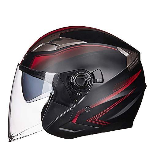 Jethelm Motorradhelm, Harley Halbschalenhelm Unisex Helm Für Mit Sonnenblende, Helm Mit Samt Futter Für Harley, ECE/DOT-Zulassung