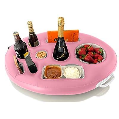 DIVEBLAST: Premium Floating Drink Holder for Pools & Hot Tub – Beach & Outdoor Cup Holder – Fun, Versatile & Portable Serving Bar (Pink)