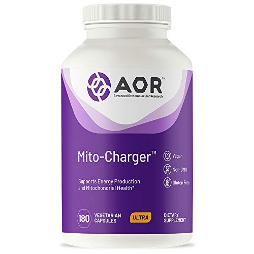 AOR, Mito-Charger, Natural Supplement to Support Healthy Mitochondria, with R-Lipoic Acid, Vegetarian, 180 capsules (30 servings)