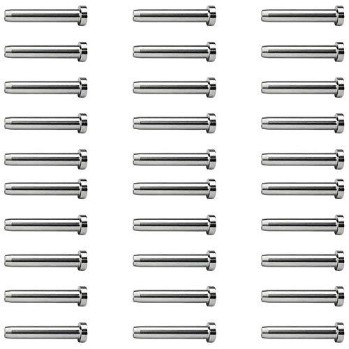 Fanuse 30 Piezas de Acero Inoxidable Stemball Perno Prisionero Sin Salida Perno Roscado Emparejado con Tensor de Cable para Kit de Barandilla de Cable de 1/8 de Pulgada