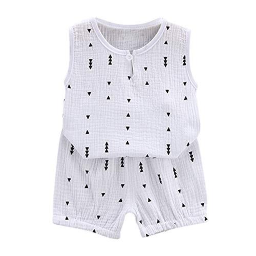 ZODOF Ropa de bebé Rebajas Camiseta de Manga Corta para niños pequeños Baby Boy Tops + Pantalones Cortos Fiesta en la Playa Impresión Tops + Shorts Conjunto de Atuendo