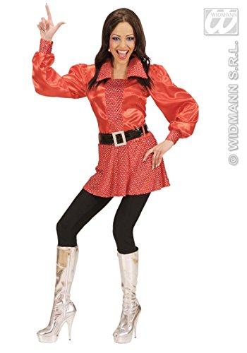 generique Costume disco rosso anni 70 donna L