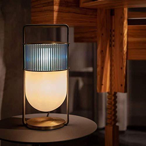 VIWIV Lámpara de escritorio para sala de estar, creativa, moderna y minimalista, para dormitorio, estudio, escritorio, decoración personalizada, 20 x 45 cm (color: azul)
