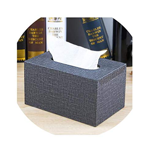 Europe Luxurious Tissue Boxes Holder Pu Leather+Wood Napkin Holder for Home Decoration Tissue Storage Box,X10