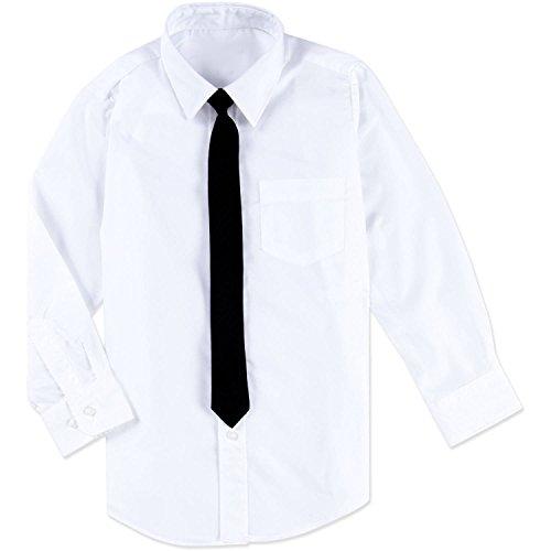 1000 Ting Denmark Hemd Jungen 152 weiß mit schwarzer Krawatte