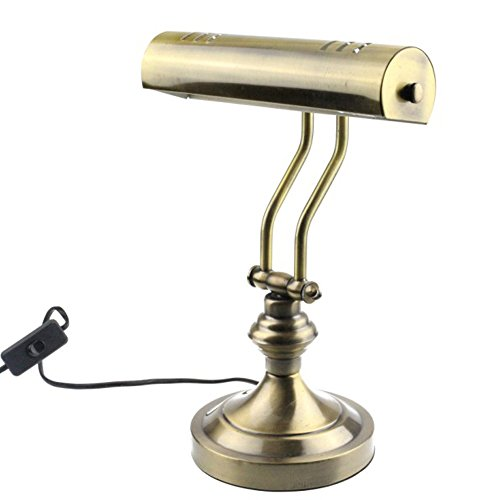"""RUDY Piano Desk Lamp 15""""H, Brushed Gold Finish - Elegant Home Accent and Perfect Gift SL003A"""