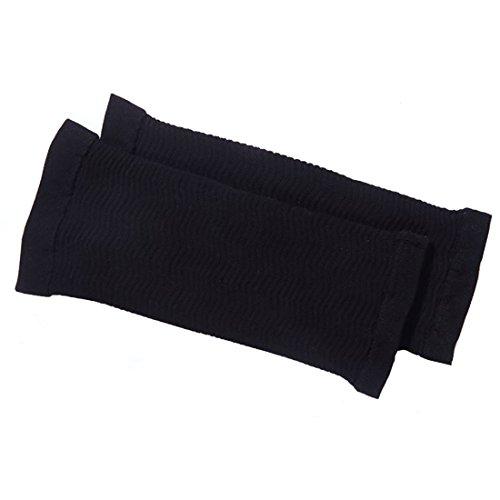 Boomly Dünner Arm Ärmel Elastisch Arm Sleeve Former Sleeves Strahlarmhülse Kalorien Sommer Arm Abnehmen Arm wärmer Sonnenhandschuhe Outdoor Arm Handschuhe (Schwarz) - 4
