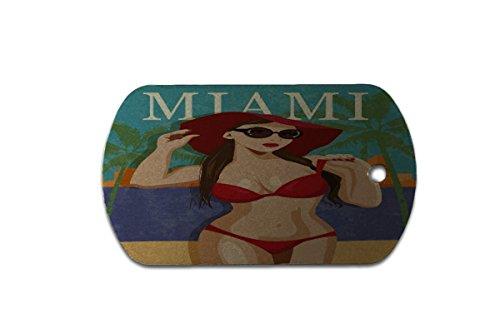 Hundemarke Erkennungsmarke Stadt Miami Bikini bedruckt