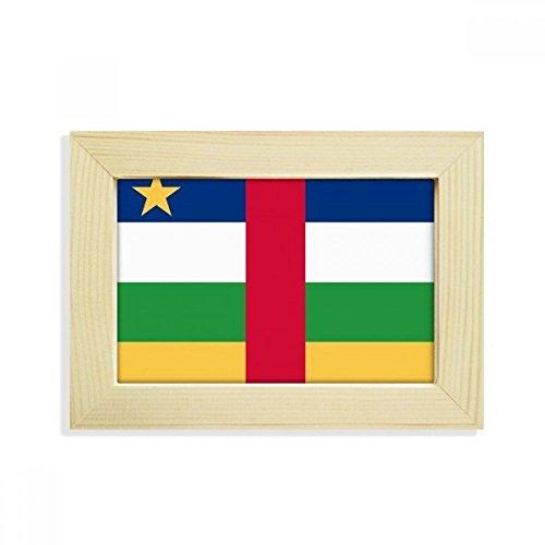 DIYthinker Zentralafrikanische Republik National Flagge Afrika Land Desktop-HÖlz-Bilderrahmen Fotokunst-Malerei Passt 10.2 x 15.2cm (4 x 6 Zoll) Bild Mehrfarbig