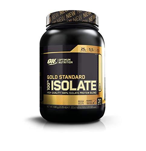 Optimum Nutrition Gold Standard Isolate Eiweißpulver (mit Glutamin und Aminosäuren, Whey Isolate Protein Shake von ON) Vanilla, 31 Portionen, 1er Pack(1 x 930 g)