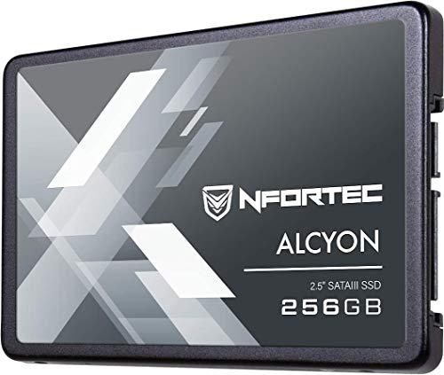 Nfortec Alcyon 2,5' Ssd 256Gb Sata Iii,Disco Duro Estado Sólido Interno Con Interfaz Serial Ata Iii 6Gb/S