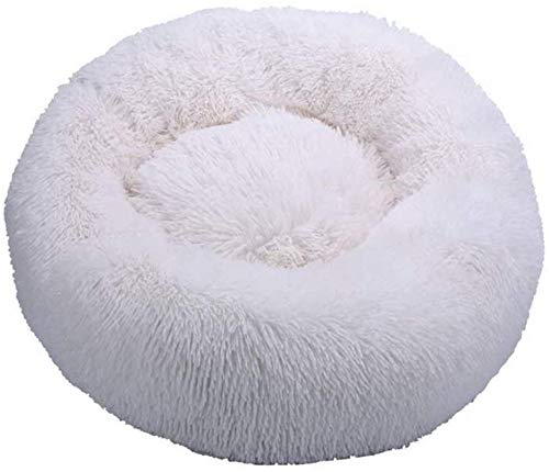HCMNME Deluxe Soft Cat Bed, Dog Bedding Plush Donut Pet Bed Dog Cat Round Warm Cuddler Kennel Soft Puppy Sofa Cat Cushion Bed Sleeping Bag Orthopedic,for Cats and Dogs