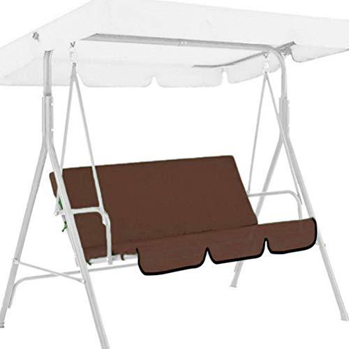 YINLANG Garden Swing Cushion Replacement 3 Seater Swing Chair Cushion Swing Seat Pads Waterproof Cover Swings Chair Cover