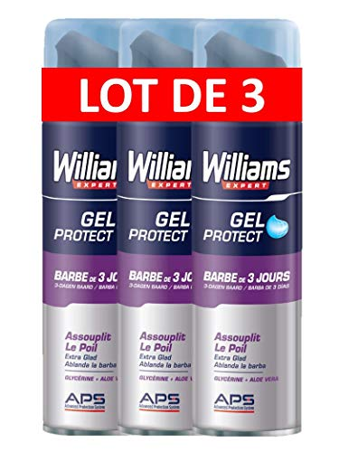 Williams gel à raser barbe de 3 jours 200ml - Lot de 3
