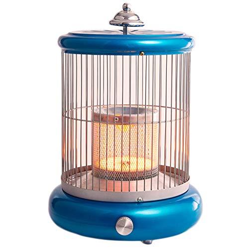 LTLJX Calefactor Radiador Halógeno, Eléctrico Calentador 1000W Calor Control de Temperatura Infinito con Antivuelco Protección,Azul