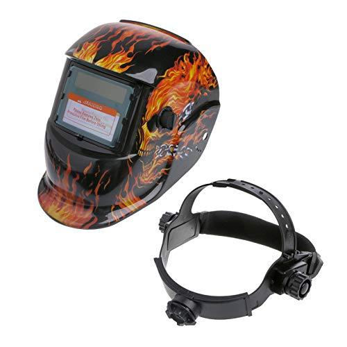 Itlovely Casco de soldadura solar con oscurecimiento automático con rango ajustable de sombra 4/9-13 para máscara de soldador de arco