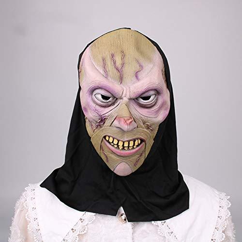 Yjdkd Halloween-masker, volledig doodshoofd-masker, cosplay, griezeldecoratie, latex masker, bar, maskerade