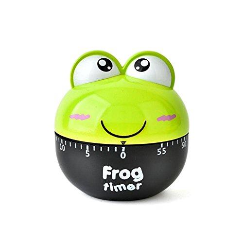 Mooyod Schöne 55 Minute Animal Timer Einfach Bedienen Küche Nützlich Kochen Netter Frosch Form für Küchentimer