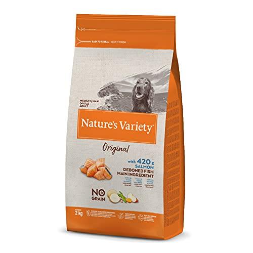 Nature's Variety Original No Grain - Pienso para perros adultos con salmón sin espinas 2 Kg