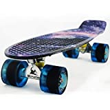 MEKETEC Skateboard Youth 22 inch Mini Cruiser Retro Starry Adults...