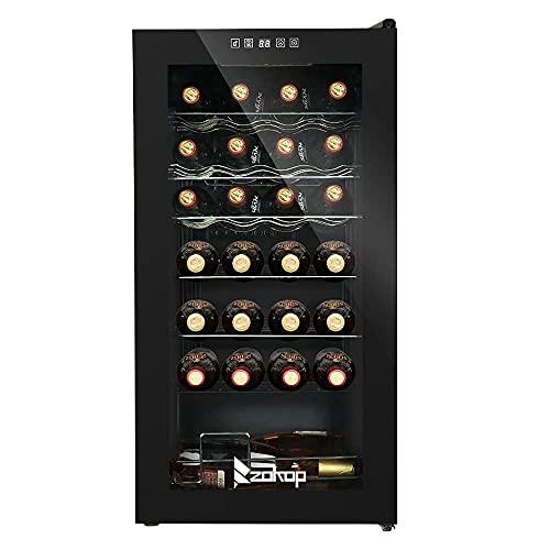 Armario de Vino refrigerado Armario de Vino electrónico Gran Capacidad de Almacenamiento Armario de Vino de pie para la Cocina casera Rac de Vino de pie Independiente