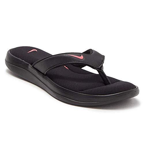 Nike Womens Ultra Comfort 3 Thong AR4498 001 (10) Black/Hyper Pink