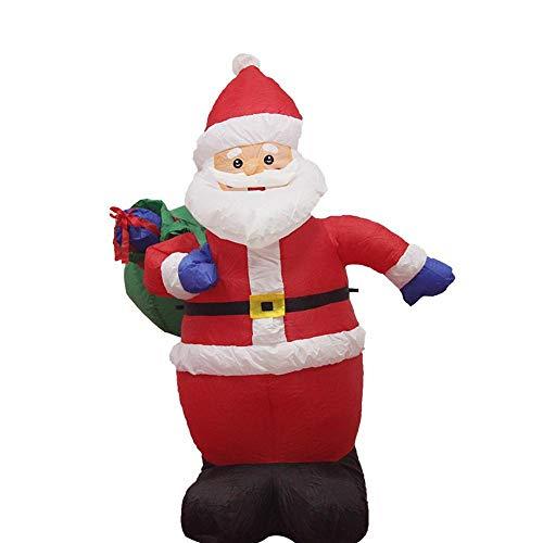 YANKAN Autogonfiante Natale E Decorazione di Natale Gonfiabile, Gonfiabile con Ventilatore E Luci LED, (Babbo Natale Retro Vaso 1,2 M)