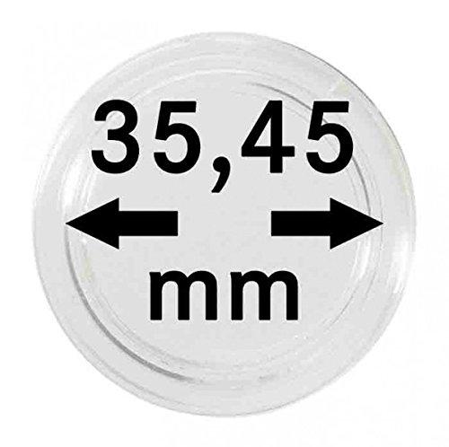LINDNER Das Original Capsules Monnaies Ø intérieur 35,45 mm, Hauteur intérieure 5,07 mm, Paquet de 10
