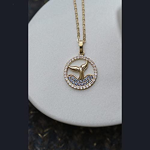 S925 Silber Silber überzogene 14 Karat Gold Skizze Französisch Romantischer Mann Patienten Halskette Anhänger Meer Licht Schatten Anhänger