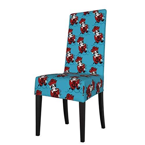 TOBEEY - Funda flexible para silla de comedor con diseño de Boston Terrier de Boston