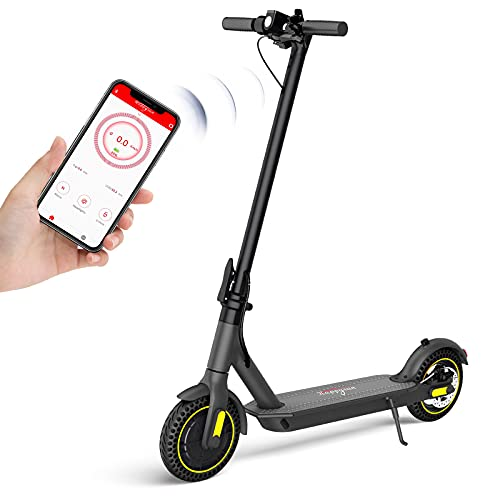 HAPPYRUN E Scooter, E Roller mit 10'' Wabenreifen, Bluetooth-Steuerung, Faltbarer, 25km maximale Reichweite, bis zu 25km/h, 350W Motor, für Erwachsene oder Jugendliche, Schwarz