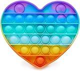 PHONILLICO Fidget Toy Silicone Coeur Multi-Couleurs Jeu Anti Stress Push...
