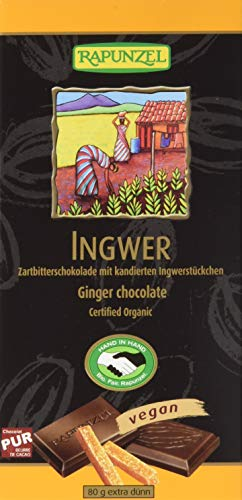 Rapunzel Zartbitter Schokolade Ingwer 55% HIH (1 x 80 g) - Bio