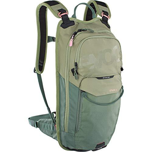 EVOC STAGE 6 technischer Bike-Rucksack für Enduro Biking oder andere Outdoor-Aktivitäten (durchdachtes Taschenmanagement, maximale Rückenbelüftung, Trinkblasenfach), Olive