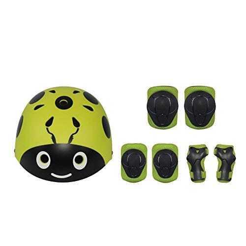 steadyuf 7 PCS Protección Patinaje Protección Infantil Consta de Casco Ajustable Rodilleras Coderas, Patinaje Ciclismo Monopatín y Deportes Extremos