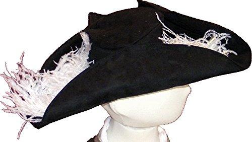 Pouce et Compagnie - PC0236 - Chapeau de Pirate - Taille Unique - Noir