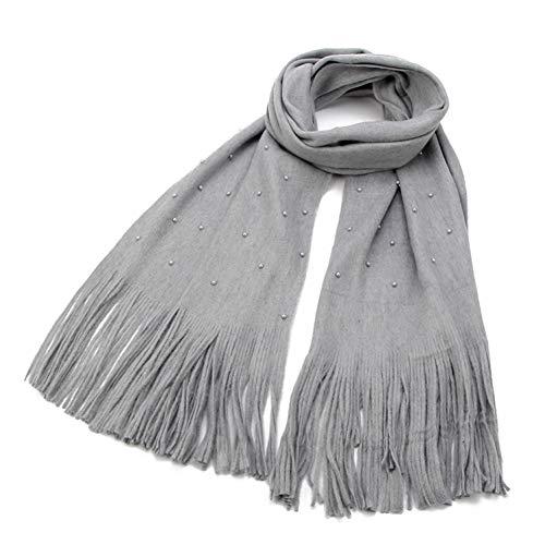 MYTJG Lady sjaal Mode Herfst En Winter Beige Grijs Groen Kwastje Sjaal, Parel Vrouwen Warm En Comfortabel Warm