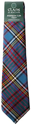 I Luv Ltd Anderson Clan 100% Wool Scottish Tartan Tie